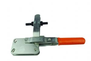 Brauer Vertical Toggle Clamp, Straight Base with Adjustable Spindle - Large. H4420